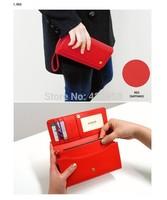 Korean version of the Crown cross pattern multifunction cell phone package large capacity, Ms. Long Wallet Card package