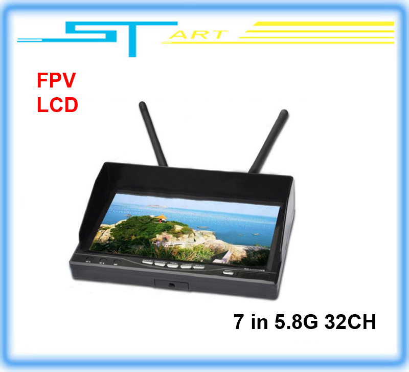 The latest Integrated Dual 7 inch Diversity LCD Screen Receiver Monitor 5.8G 32 frequency receiver FPV Monitor girl toy(China (Mainland))