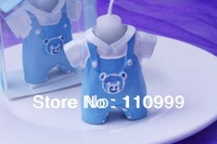 Baby dress candle 10PCS/LOT+Baby shower favors birthday gift (Blue Boy candle)