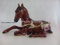 2014 Elephant Bejewelry boxes horse Chinese trinket box enamel trinket boxes