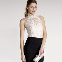 RICHCOCO brand sexy backless sleeveless lace shirt women elegant tops 2014 C02073