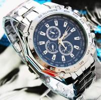 Free shipping waterproof men three students watch fashion watch quartz watch stainless steel Watchband Special watch wf
