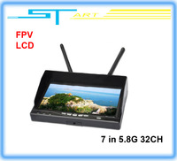 The latest Integrated Dual 7 inch Diversity LCD Screen Receiver Monitor 5.8G 32 frequency receiver FPV Monitor helikopter