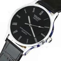 Free shipping men's leather belt watch watches women watch Korean fashion slim waterproof quartz watch a couple of students SG