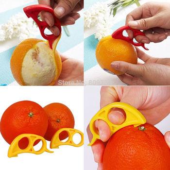 Hot 2pc Orange Peelers Slicer Lemon Lime Tangerine Grapefruit - Kitchen Tool Gadget Drop Free Ship