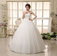 Free Shipping Sweetheart cute dress gown Tulle romantic Wedding Dress Bride sexy dress 2014 Wedding dresses HS027
