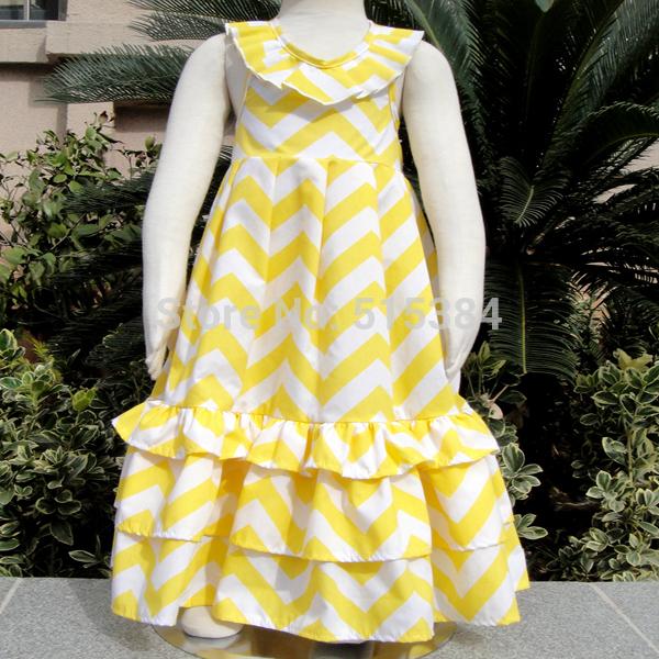wholesale Maxi Dress - Girls Maxi Dress - Chevron Dress new arrival stock long dresses for children kids girls(China (Mainland))