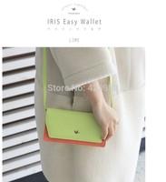 Korean hit color large capacity multi-function mobile phone bag long wallet women wallet can be diagonal