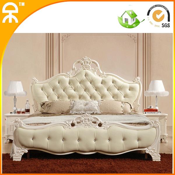 Hot Sale Modern Bedroom Furniture Design Girl Leather Bed Set For