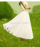Fashion student style beautiful girl Slim hip bag skirt chiffon fairy skirts solid bohemia medium-long