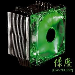 Fresco Wei Shite transformadores Green Goblin 6 calor CPU Cooler Master Sickle tubo de fluxo ventilador do radiador para todas as plataformas(China (Mainland))