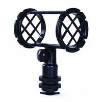 Camera Video Shock Mount for RODE NT4 BOYA BY-PM1000 Shotgun Microphones 19-25mm in Diameter