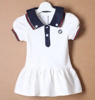 Baby girls dress kids children short sleeve double lapel dresses 0418 sylvia 588333003