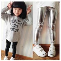 2014 spring glossy Girls slim legging child all-match elastic waist skinny pants 0211 sylvia 37228346243