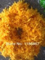 5pcs/lot gold Turkey Feather Boa Turkey Feather Strip 40g Fluffy Craft Decoration chandelle feather boa P151