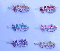 girl hair accessories alloy hair jewelry The frog clip hair pin women hair flower crystal 2014new