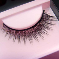 1 pair/pack Natural look thick cross light make up fake false eyelashes.18.17733.Free shipping