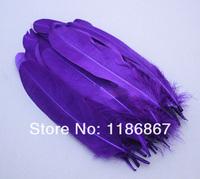 Wholesale P050 beautiful Dark Purple goose feather decoration optional colors 6-8inch/15-20CM 100pcs/lot