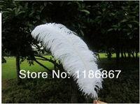 wholesale 10PCS/lot White Ostrich Feathers 50 -55cm/20-22 Inch wedding decoration feathers plumage feather centerpieces wedding