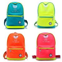 Star Style Exo fluorescence schoolbag backpack preppy style schoolbag shoulder bag high quality girl backpack for school
