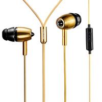 Mykimo metal bass in ear earphones mobile phone computer wire belt microphone headset