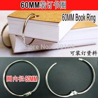 10 X DIY 60mm Book Ring Hoop Binding Binder Hoops Loose Leaf Scrapbook Album Rings