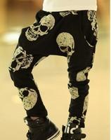 Baby boys pants kids children print gold skull boys trousers harem pants 0401 sylvia 37914259661