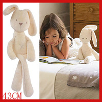MaMas & papas silky 43CM rabbit obediently sleep appease doll plush toys baby toys free shipping