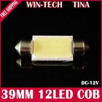4pcs COB chip festoon C5W 3W cob led 12v c5w 12v 39mm festoon cob car dome light festoon 3w led
