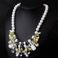 Newest Gorgeous Necklace Pearl Chain Statement Necklace Women Choker Crystal Necklaces & Pendants Cool 2014