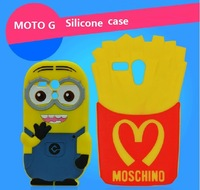 Cartoon case for Motorola moto g silicone case best gift fashion cute back protective cover luxury style