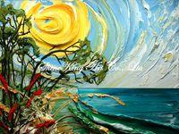 Palette Kinfe Oil Painting  Modern Art  Impressional landsape Canvas Paintings K714 60x80cm