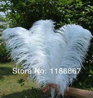 Free shipping20pcs /lot  Cheap ostrich feather 16-18 inches 40-45cm white Ostrich plumage ostrich plume P015
