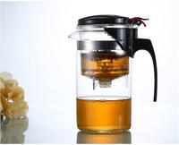 hot sale simple elegant tea kettle 1000 ml tea pot heat-resistant glass teapot convenient office tea pot set 1