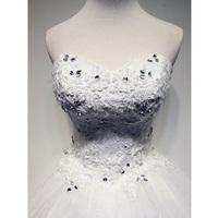 wedding dress 2014 new Korean sweet princess tutu Qi Lace Bra straps paragraph