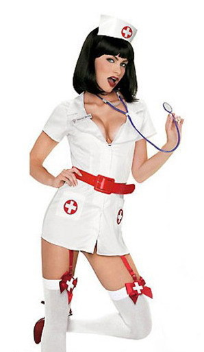 Carnival party costumes Naughty Nurse Costume 3S1020 Free shipping 2014 Sexy nurse outfit(China (Mainland))