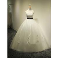 original Korean version of the 2014 wedding dress trailing Bra straps pregnant waist big yards can be customized