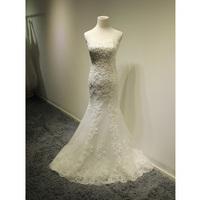 bride fishtail wedding dress 2014 new Korean version of the long tail waist Slim Lace Bra