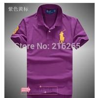 Cotton short-sleeved T-shirt lapel new fashion men's t-shirt loose Malaysian Standard