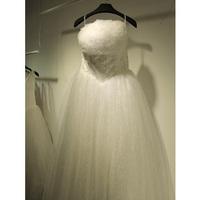wedding dress 2014 Korean version of the new princess wedding Bra straps Qi small chest Gospel