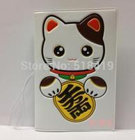 Lucky cat passport holder passport cover testificate set faux leather embossed 3d cartoon set