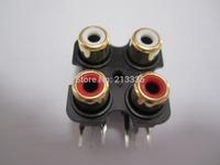 FOUR-RCA SOCKET AV4-8.4-7 Gold Plated,Customized welcomed