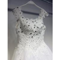 Qi 2014 new Korean wedding dress gorgeous wedding word shoulder straps models big yards