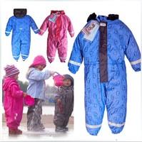 Child one piece raincoat rain pants suspenders rain pants male female child raincoat skiing pants waterproof pants