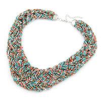 Hot Sale Fashion Handmade Beads Choker Bohemia Statement Necklace Jewelry Free Shipping