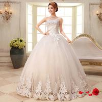 New arrival 2014 tube top sweet princess bride wedding dress bandage marriage