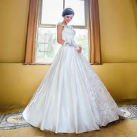 2014 New design handmade diamond wedding dress princess bride dress Freeshipping
