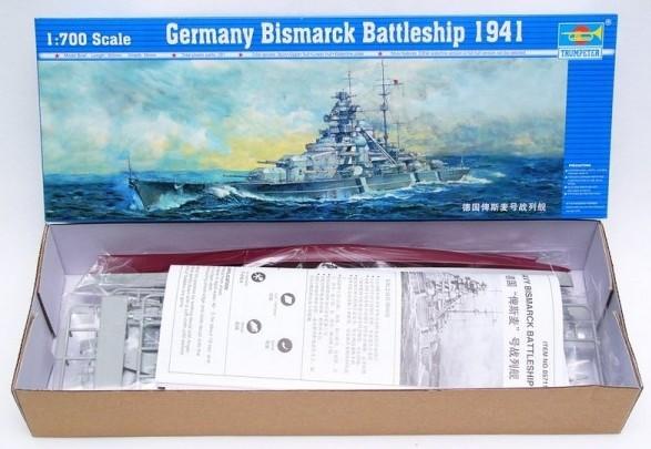 Trumpeter 05711 1/700 Germany Bismarck Battleship 1941 Assembled model(China (Mainland))