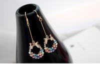 Free Shipping Bowknot earrings for Women Earrings Wholesale Jewelry Min.order is $10(mix order)