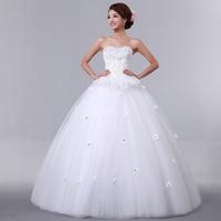 New arrival sweet princess top quality puff skirt wedding dress tube top bride formal dress Freeshipping